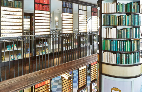 Photograph of interior fixtures and fittings Created by Townsend Design for a Warby Parker store in NYC.